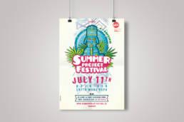 Affiche pour le Summer Project Festival par Actidis